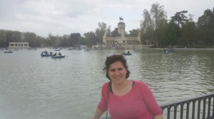Paula at the Parque de El Retiro